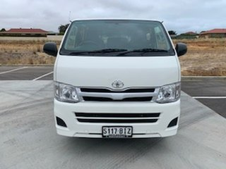 2012 Toyota HiAce KDH201R MY11 LWB White 5 Speed Manual Van.