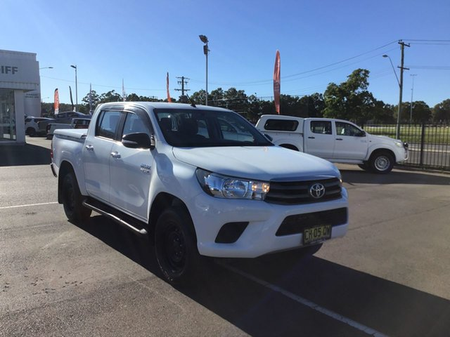 Pre-Owned Toyota Hilux GUN126R SR Double Cab Cardiff, 2016 Toyota Hilux GUN126R SR Double Cab White 6 Speed Sports Automatic Utility