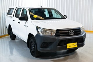 2016 Toyota Hilux GUN122R Workmate Double Cab 4x2 White 5 Speed Manual Utility