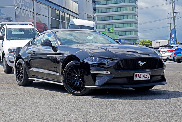 Used Ford Mustang FN 2018MY GT Fastback SelectShift Springwood, 2018 Ford Mustang FN 2018MY GT Fastback SelectShift Black 10 Speed Sports Automatic Fastback