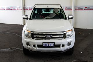 2012 Ford Ranger PX XLT 3.2 (4x4) White 6 Speed Automatic Super Cab Utility