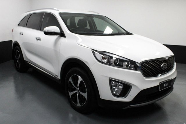 Used Kia Sorento UM MY16 SLi AWD Hamilton, 2016 Kia Sorento UM MY16 SLi AWD White 6 Speed Sports Automatic Wagon