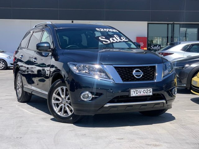 Used Nissan Pathfinder R52 MY15 ST-L X-tronic 2WD Liverpool, 2015 Nissan Pathfinder R52 MY15 ST-L X-tronic 2WD Blue 1 Speed Constant Variable Wagon