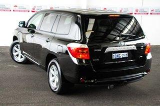 2010 Toyota Kluger GSU45R KX-R (4x4) 7 Seat Black 5 Speed Automatic Wagon.