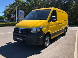 2019 Volkswagen Crafter SY1 MY19 35 MWB FWD TDI410 Yellow 8 Speed Automatic Van.