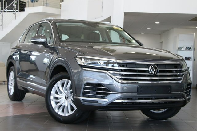 New Volkswagen Touareg CR MY21 170TDI Tiptronic 4MOTION Indooroopilly, 2020 Volkswagen Touareg CR MY21 170TDI Tiptronic 4MOTION Silicone Grey 8 Speed Sports Automatic