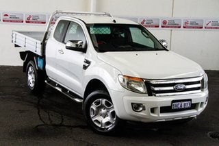 2012 Ford Ranger PX XLT 3.2 (4x4) White 6 Speed Automatic Super Cab Utility.