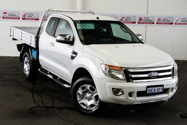 Pre-Owned Ford Ranger PX XLT 3.2 (4x4) Rockingham, 2012 Ford Ranger PX XLT 3.2 (4x4) White 6 Speed Automatic Super Cab Utility