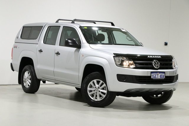 Used Volkswagen Amarok 2H MY16 TDI400 Core Edition (4x4) Bentley, 2016 Volkswagen Amarok 2H MY16 TDI400 Core Edition (4x4) Silver 6 Speed Manual Dual Cab Utility