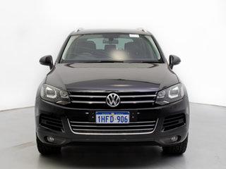 2013 Volkswagen Touareg 7P MY13 150 TDI Black 8 Speed Automatic Wagon.