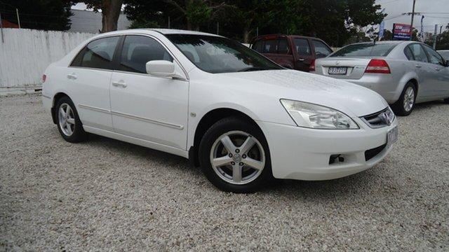 Used Honda Accord 7th Gen VTi Seaford, 2003 Honda Accord 7th Gen VTi White 5 Speed Automatic Sedan