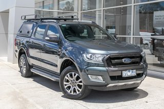 2015 Ford Ranger PX MkII Wildtrak Double Cab Grey 6 Speed Sports Automatic Utility.