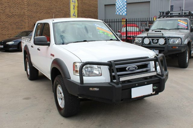 Used Ford Ranger PJ XL (4x4) Hoppers Crossing, 2007 Ford Ranger PJ XL (4x4) White 5 Speed Manual Dual Cab Pick-up