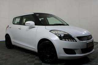 2012 Suzuki Swift FZ GL White 5 Speed Manual Hatchback.