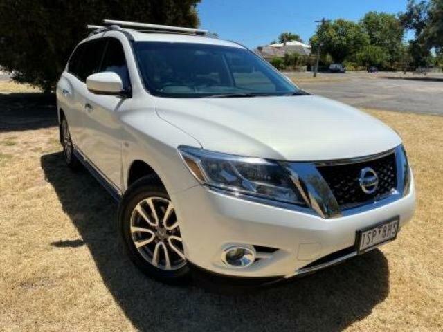 Used Nissan Pathfinder R52 MY15 ST-L (4x2) Wangaratta, 2015 Nissan Pathfinder R52 MY15 ST-L (4x2) White Continuous Variable Wagon