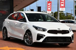 2020 Kia Cerato BD MY21 GT DCT Snow White Pearl 7 Speed Sports Automatic Dual Clutch Hatchback.