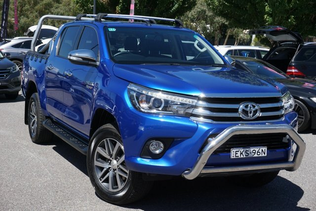 Used Toyota Hilux GUN126R SR5 Double Cab Phillip, 2016 Toyota Hilux GUN126R SR5 Double Cab Blue 6 Speed Sports Automatic Utility