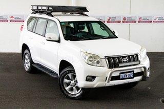 2010 Toyota Landcruiser Prado KDJ150R GXL (4x4) Glacier White 5 Speed Sequential Auto Wagon.