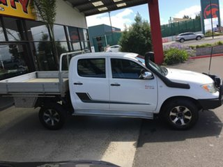 2008 Toyota Hilux KUN26R 07 Upgrade SR (4x4) White 4 Speed Automatic Dual Cab Pick-up