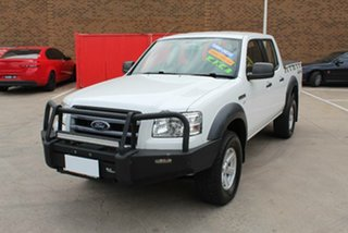 2007 Ford Ranger PJ XL (4x4) White 5 Speed Manual Dual Cab Pick-up.