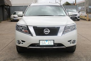 2015 Nissan Pathfinder R52 ST-L (4x2) White Continuous Variable Wagon.