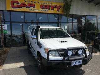 2008 Toyota Hilux KUN26R 07 Upgrade SR (4x4) White 4 Speed Automatic Dual Cab Pick-up.