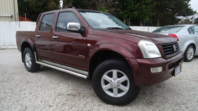 Used Holden Rodeo RA LT Crew Cab Seaford, 2003 Holden Rodeo RA LT Crew Cab Red 4 Speed Automatic Utility