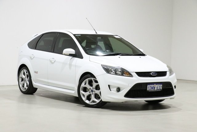 Used Ford Focus LV XR5 Turbo Bentley, 2010 Ford Focus LV XR5 Turbo White 6 Speed Manual Hatchback