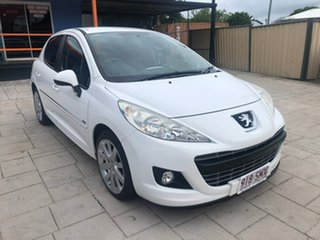2012 Peugeot 207 A7 Series II MY12 Sportium White 4 Speed Automatic Hatchback.