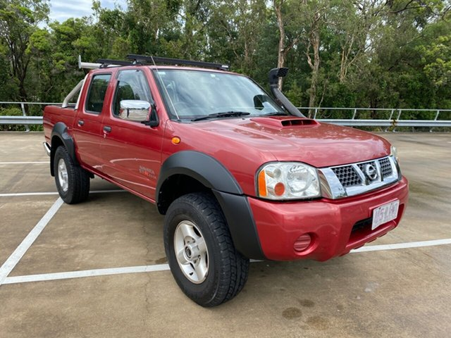 Used Nissan Navara D22 ST-R (4x4) Morayfield, 2008 Nissan Navara D22 ST-R (4x4) Red 5 Speed Manual Dual Cab Pick-up
