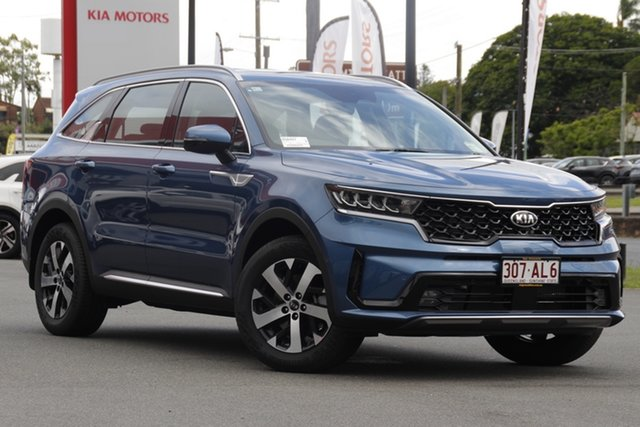 Demo Kia Sorento UM MY20 Sport AWD Mount Gravatt, 2020 Kia Sorento UM MY20 Sport AWD Mineral Blue 8 Speed Sports Automatic Wagon