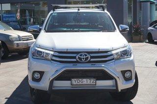 2015 Toyota Hilux GUN126R SR5 Double Cab White 6 Speed Sports Automatic Utility.