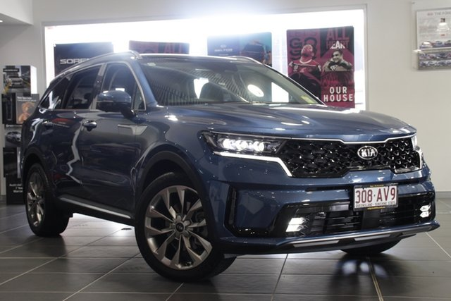 Demo Kia Sorento MQ4 MY21 GT-Line AWD Mount Gravatt, 2020 Kia Sorento MQ4 MY21 GT-Line AWD Mineral Blue 8 Speed Sports Automatic Dual Clutch Wagon