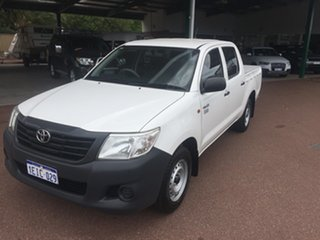2013 Toyota Hilux TGN16R MY14 Workmate Double Cab 4x2 White 4 Speed Automatic Utility