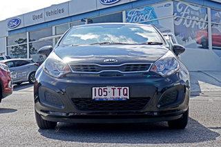 2014 Kia Rio UB MY14 S Black 6 Speed Manual Hatchback.