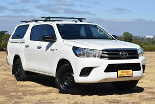 2016 Toyota Hilux GGN120R SR Double Cab 4x2 White 6 Speed Sports Automatic Utility.