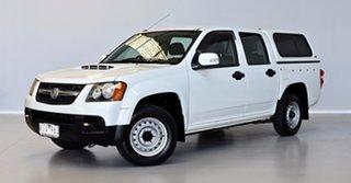 2009 Holden Colorado RC MY09 LX Crew Cab 4x2 White 5 Speed Manual Utility.