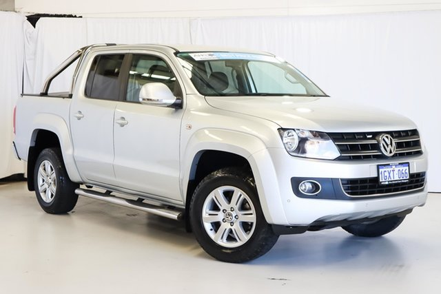 Used Volkswagen Amarok 2H MY14 TDI400 4Mot Highline Wangara, 2014 Volkswagen Amarok 2H MY14 TDI400 4Mot Highline Silver 6 Speed Manual Utility