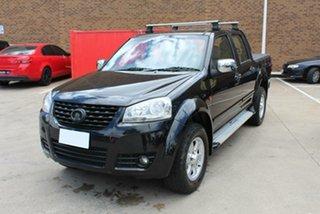 2012 Great Wall V240 K2 MY11 (4x2) Black 5 Speed Manual Dual Cab Utility.