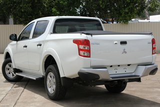 2016 Mitsubishi Triton MQ MY17 GLX Double Cab White 5 Speed Sports Automatic Utility.