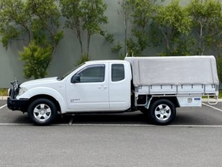 2010 Nissan Navara D40 RX King Cab White 5 Speed Automatic Cab Chassis