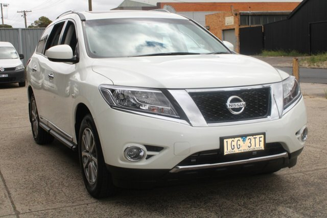 Used Nissan Pathfinder R52 ST-L (4x2) West Footscray, 2015 Nissan Pathfinder R52 ST-L (4x2) White Continuous Variable Wagon