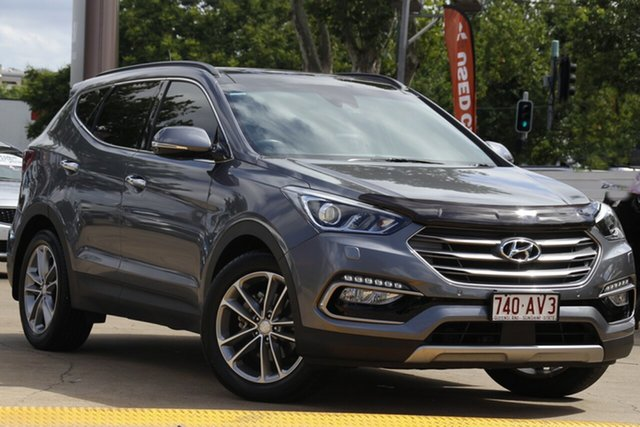 Used Hyundai Santa Fe DM2 MY15 Highlander Toowoomba, 2014 Hyundai Santa Fe DM2 MY15 Highlander Silver 6 Speed Sports Automatic Wagon