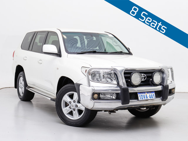 Used Toyota Landcruiser UZJ200R Altitude SE, 2011 Toyota Landcruiser UZJ200R Altitude SE White 5 Speed Automatic Wagon