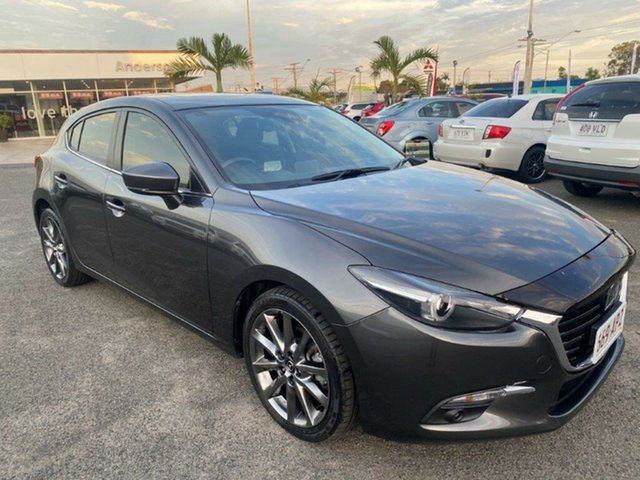 Used Mazda 3 BN5436 SP25 SKYACTIV-MT Astina Gladstone, 2017 Mazda 3 BN5436 SP25 SKYACTIV-MT Astina Grey 6 Speed Manual Hatchback