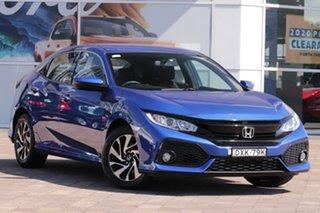 2017 Honda Civic 10th Gen MY17 VTi-S Blue 1 Speed Constant Variable Hatchback.