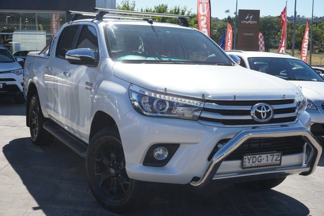 Used Toyota Hilux GUN126R SR5 Double Cab Phillip, 2015 Toyota Hilux GUN126R SR5 Double Cab White 6 Speed Sports Automatic Utility