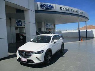 2017 Mazda CX-3 DK MY17.5 S Touring (FWD) White 6 Speed Automatic Wagon.