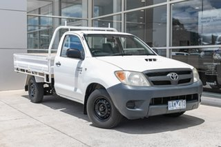 2005 Toyota Hilux KUN16R MY05 SR 4x2 White 5 Speed Manual Cab Chassis.