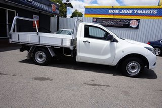 2016 Mazda BT-50 UR0YD1 XT 4x2 Cool White 6 Speed Manual Cab Chassis